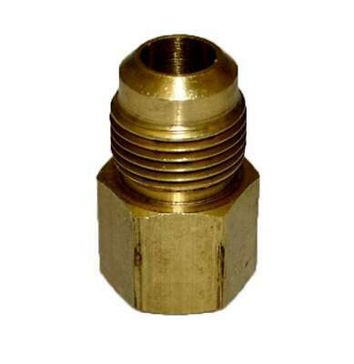 "HPC Adaptor Brass Fitting, 1/2"" Tube, 3/8"" FIP"