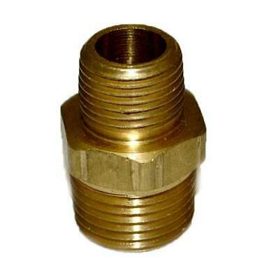 "HPC Brass Reducing Nipple, 1/2"" MIP to 3/8"" MIP"
