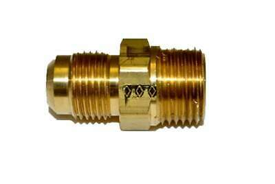 "HPC Male Connector Brass Fitting, 1/2"" Tube, 1/2"" MIP"