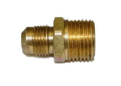 "HPC Male Connector Brass Fitting, 3/8"" Tube, 1/2"" MIP"