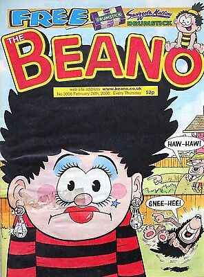 BEANO - 26th FEBRUARY 2000 (24 Feb- 1 March) SPECIAL 18th BIRTHDAY GIFT !! FINE+