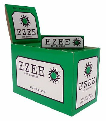 Ezee Green  Papers Cigarette Smoking Rolling Papers Cut Corners Uk Seller P&P