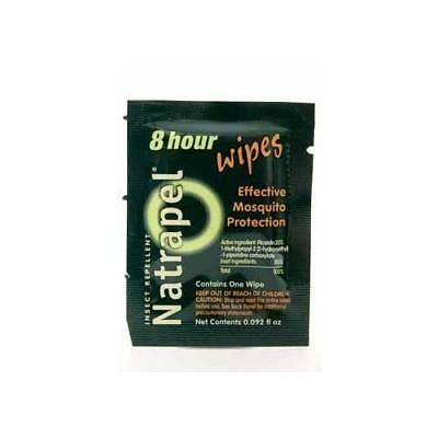 Natrapel 8-Hour Deet Free Insect Repellent Wipes 12 Count Each