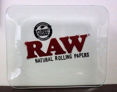 Raw Rolling Papers Glass Rolling Tray 11x13 Limited Edition