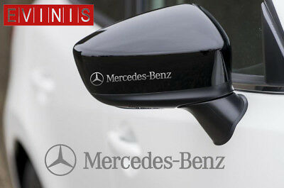 MERCEDES BENZ VINYL SYMBOL MIRROR DECALS STICKERS GRAPHICS x2
