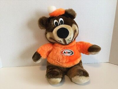 """Vintage Original Owner A&W Rooty The Bear Approx 16"""" Canasia Toys and Gifts Inc."""