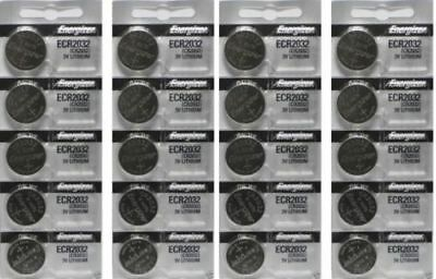 Lot of 20 PC ENERGIZER CR2032 WATCH BATTERIES 3V LITHIUM CR 2032 DL2032 BR2032