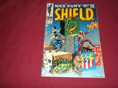 Nick Fury agent of shield #1 marvel 1968 silver age comic! See my store for keys