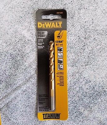 "17/64"" pilot point drill bit ~ QTY:  1 ea. ~  Dewalt  DW1383 metal or wood"