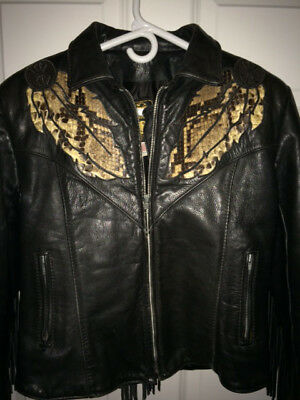 Gypsy Warrior Native American Leather/snakeskin Jacket Women's 12 or small man