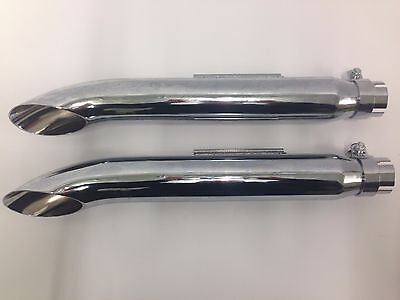 mufflers exhaust pipes motorcycle turn out universal custom style chopper