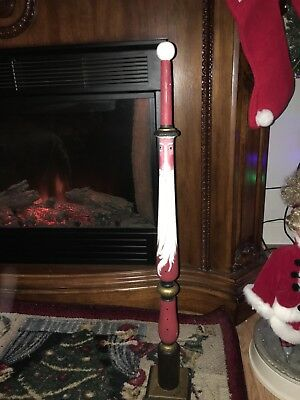 VTG Tall skinny Custom 29 INCH hand carved painted SANTA CLAUS christmas Figurin