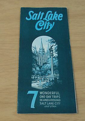 "1929 TRAVEL Brochure~""SALT LAKE CITY"" 7 One-Day TRIPS~"