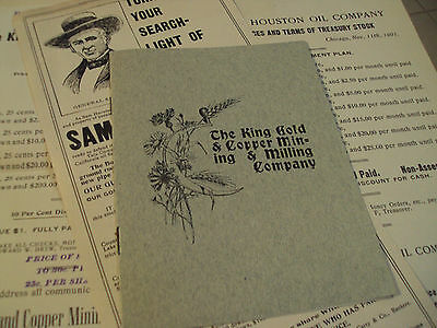 "RARE 1901 Ephemera Lot~""SAM HOUSTON OIL CO""~St Louis WORLD'S Fair~Prospectus~"