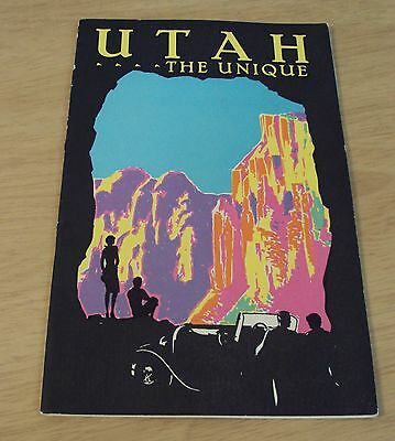 "1930 SOUVENIR Booklet for American Bankers~TRAVEL GUIDE to ""UTAH The UNIQUE""~"
