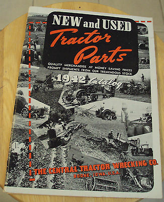 """VTG 1942 """"CENTRAL TRACTOR WRECKING Co"""" Parts CATALOG~Boone Iowa~VERY NICE~"""