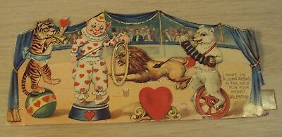 "VTG/Antique MECHANICAL Valentine~""CIRCUS""~4-Piece Movement~Made in Germany~"