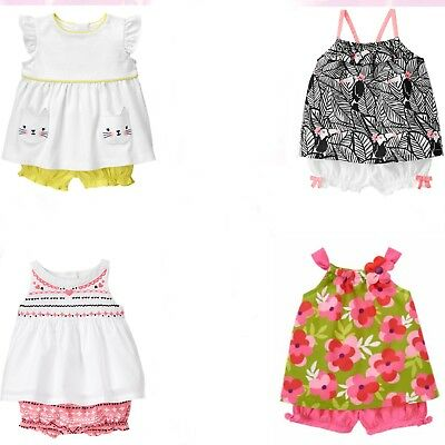Gymboree Baby Girl 2 pc Bloomer Sets NWT 0 3 6 12 Mos Retail Store