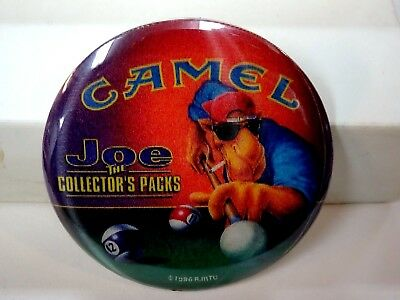 1996 Camel Joe Cool The Collector Packs Motion Pinback Plays Pool