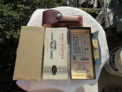 1981 CASE XX No.5197 LSSP STAG SHARK TOOTH + BOX + PAPERS + SHEATH + SLEEVE+MINT