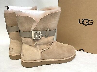 bf53a848a32 UGG AUSTRALIA JAYLYN strap / metal buckle Twinface boot 1018628 Driftwood  Tan