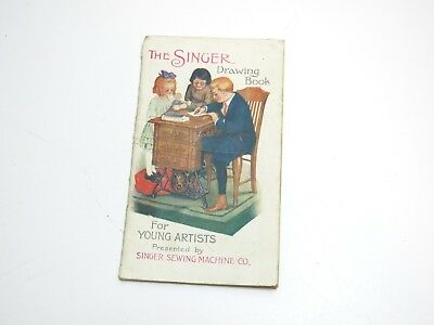 Antique 1900's  The Singer Drawing Book For Young Artist Advertising Booklet