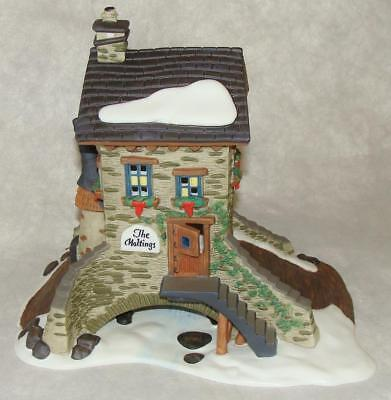 DEPT 56 Dickens Village Series THE MALTINGS Lighted Building Box & Sleeve #58335