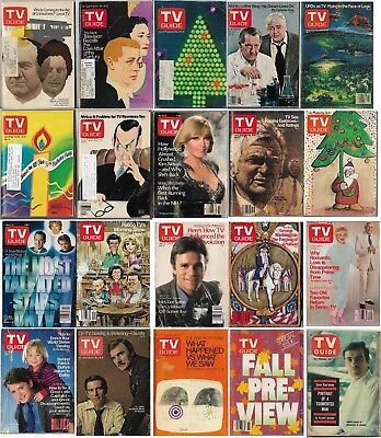 TV Guide Magazine - Large Lot of 20 (Some Christmas & Fall Preview Editions)