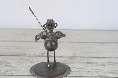 Industrial Art Piece Golfer Golf Sculpture - Made With Misc Tools & Metal Pieces