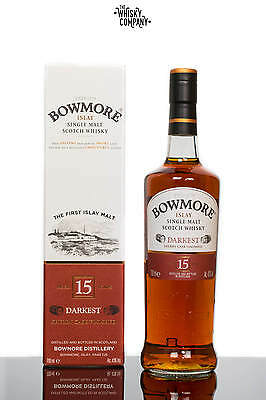 Bowmore Aged 15 Years Darkest Islay Single Malt Scotch Whisky (700ml)