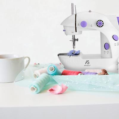 Anself Portable Electric Sewing Machine 2 Speed Adjustment with Foot Pedal S8O9