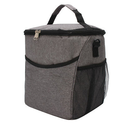 AU Large Zipper Cold Insulated Thermal Cooler Travel Picnic School Lunch Bag Box