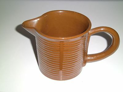 Stangl Pottery Indian Summer Pitcher Brown Ribbed Vintage Mid Century Rare Item