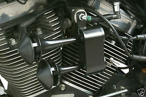 Rivco Black 128dB Dual Air Horn for Harley Davidson Softail Touring Dyna XL