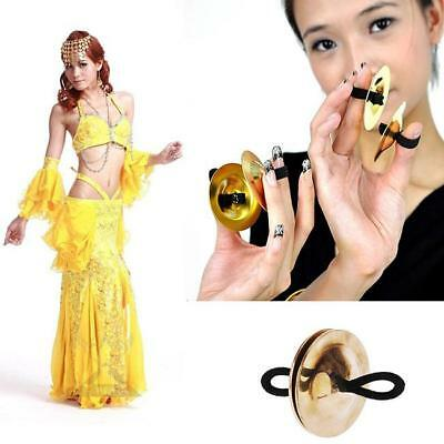 Belly Dance Mini Copper Finger Cymbals Zills Brass Costume Dress Accessories Kit