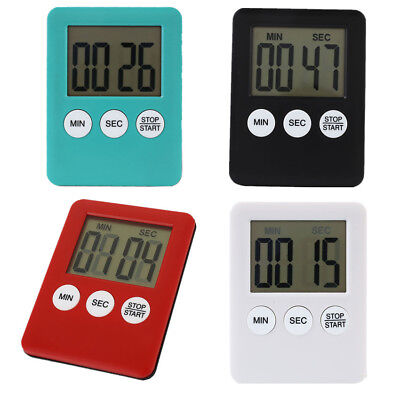 4 Colors LCD Digital Kitchen Cooking Timer Count-Down Up Clock Alarm Magnetic