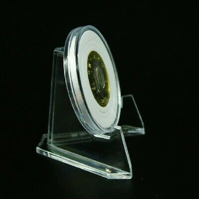 Clear Acrylic Badge Medal Coin Minerals Cards Display Bracket Stand Holder Easel