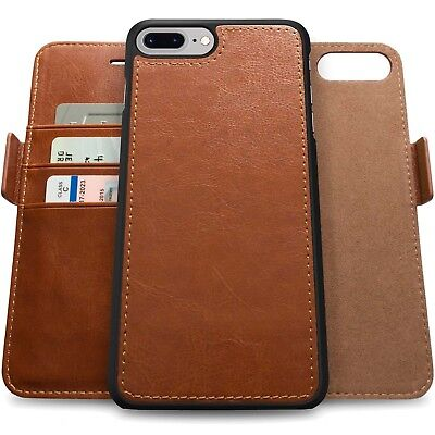 Genuine Leather Magnetic Flip Wallet Case Cover For Apple iPhone X 8 7 6 6S Plus