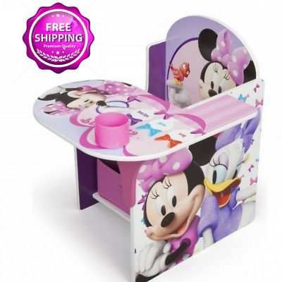 Chair Desk Disney Minnie Mouse Storage Bin Children New Table Toddler Cup Holder  sc 1 st  PicClick & CHAIR DESK DISNEY Minnie Mouse Storage Bin Children New Table ...