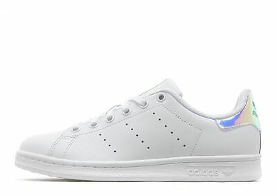 new products 72c2d 85fe8 Adidas Stan Smith Hologram Heel Iridescent AQ6272 Youth Size