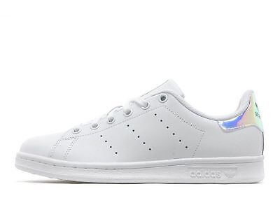 Adidas Stan Smith Hologram Heel Iridescent AQ6272 Youth Size