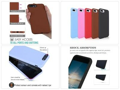 5 Pack Apple IPhone 7 PLUS Slim Soft Silicone Case Various Colors Brand New Box
