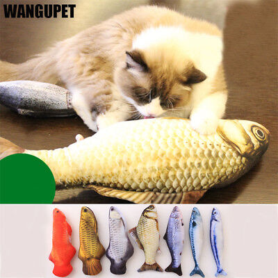 1PC Safe Cat Toy Simulation Fish Toy PP Cotton Padded 20-30cm Long Pet Dog Toys