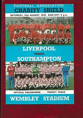 1976 Charity Shield Liverpool v Southampton inc Arsenal v Leicester City 6aside