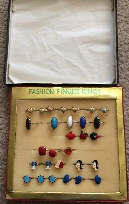 Vintage Box Of Children's And Women's Fashion Rings