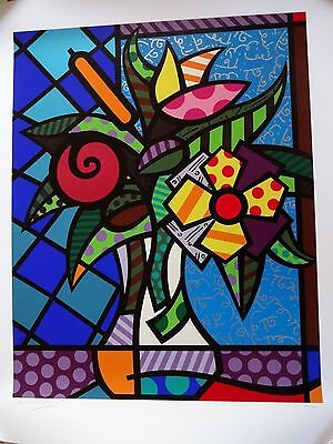 "ROMERO BRITTO Serigraphie ""It`s for you"
