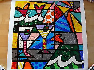 "ROMERO BRITTO Serigraphie ""Party Time"""