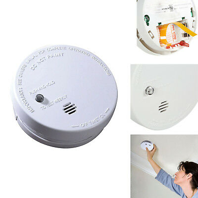 Ionization Smoke Alarm Battery Operated Detector Warning Signal Fire Protection