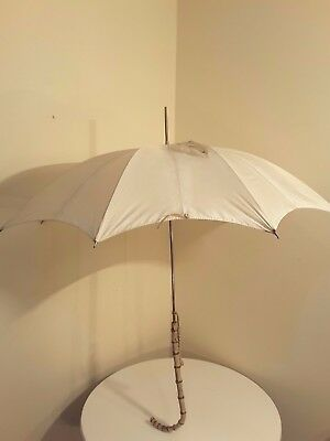 Vintage Umbrella Brolly With Bamboo Effect Handle