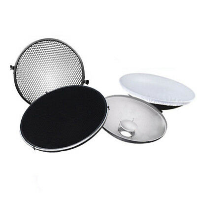 Photo Studio Flash Beauty Dish 42cm S type Honeycomb + White Diffuser D9S2